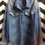 LS BD SHEER WITH SHOULDER PATCH ZIPER POCKET *AS IS 1