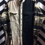 LS BD CREAM BLACK WITH BACK FUNKY AZTEC PATTERN 1
