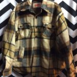 PLAID WOOL JACKET WITH BLANKET LINING *AS IS 1