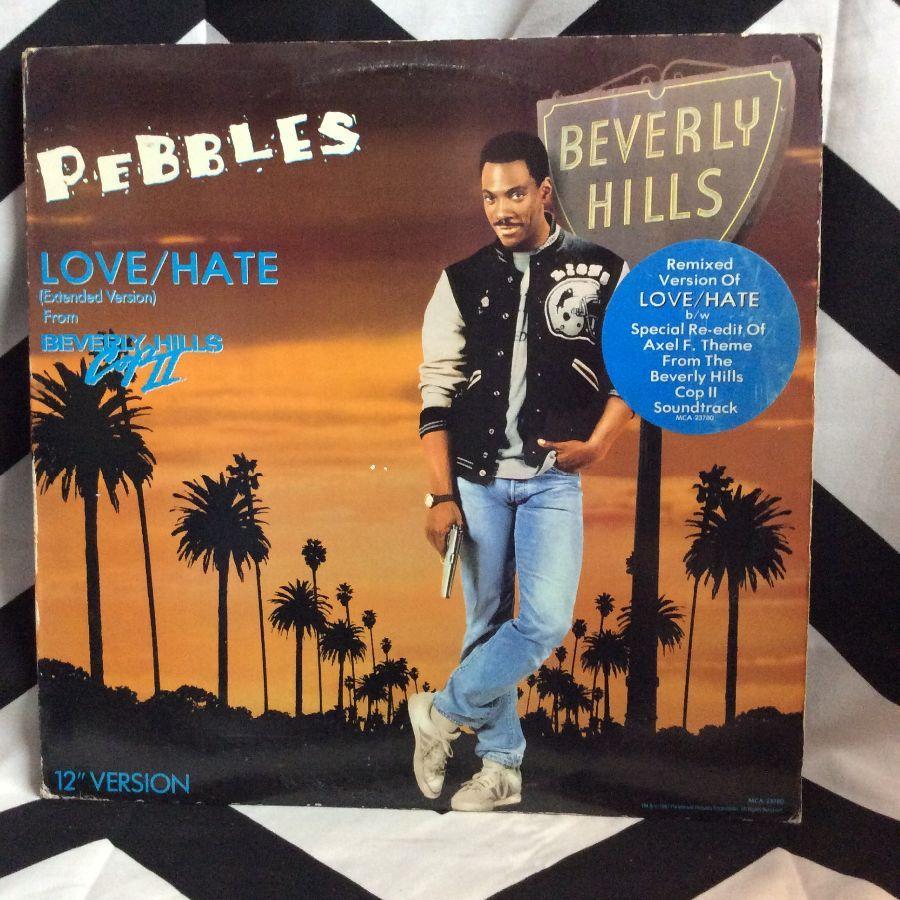 VINYL PEBBLES - LOVE/HATE (BEVERLY HILLS COP II) SINGLE 1