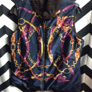 Baroque Vest with Reversible Fur lining 1