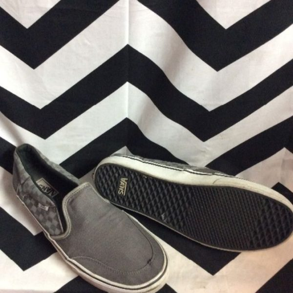 product details: VANS SLIP-ON SNEAKERS CHECKERED DESIGNS ON SIDES photo