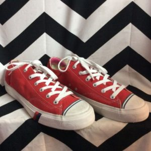 PRO KEDS RED ATHLETIC LACE UP SHOES 1
