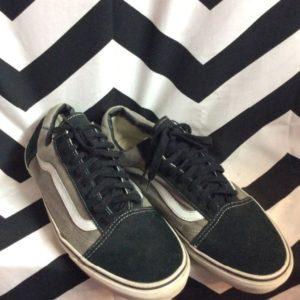 VANS OLD SKOOL CANVAS GREY/ BLACK 1