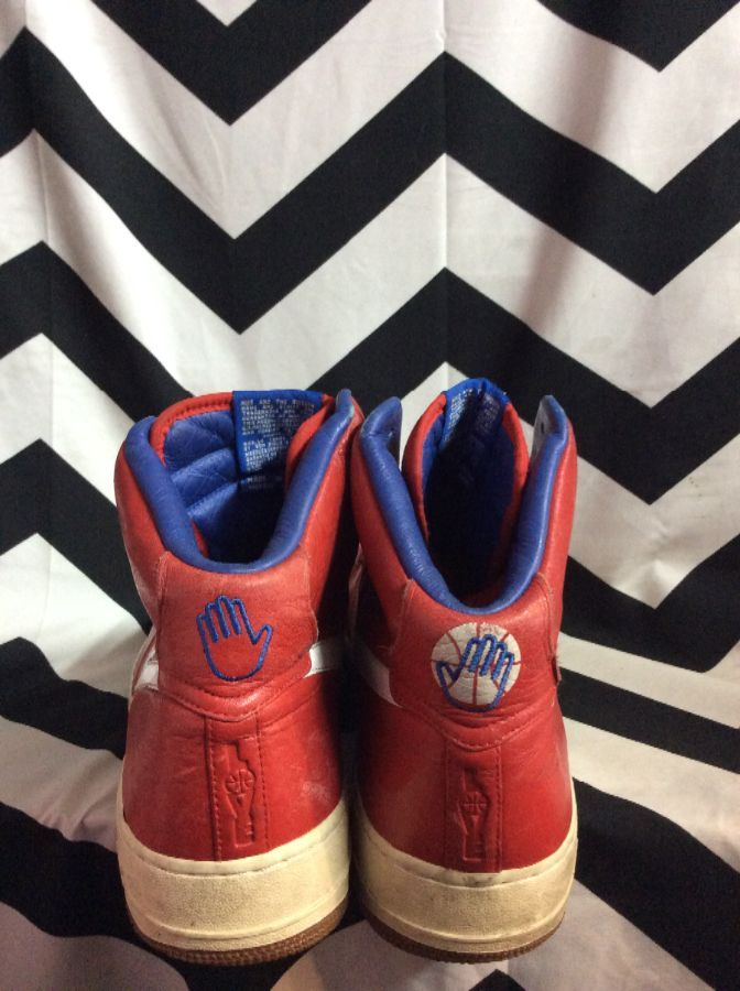 AIR FORCE 25 PHILADELPHIA 76ERS NIKE HIGH TOPS 3