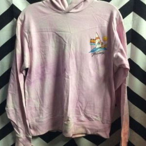 SWEATSHIRT HOODED TROPIX BLEACHED 1