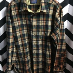 LS BD Pendleton wool Flannel shirt autumn colors 1