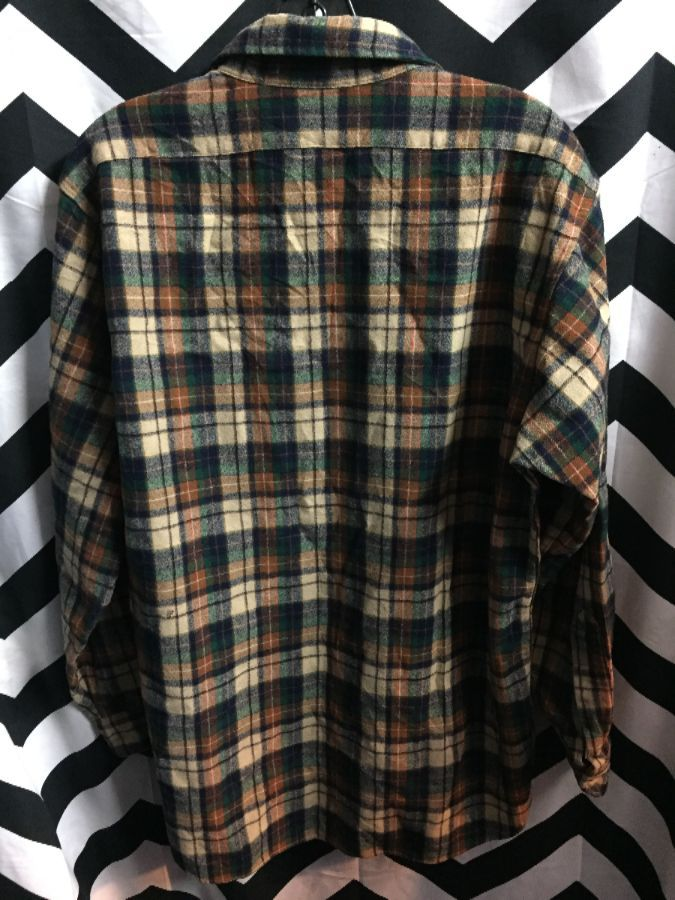 LS BD Pendleton wool Flannel shirt autumn colors 2