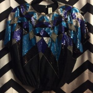 STRUCTURED SILK TOP FULLY BEADED GEOMETRIC DESIGN as-is 1