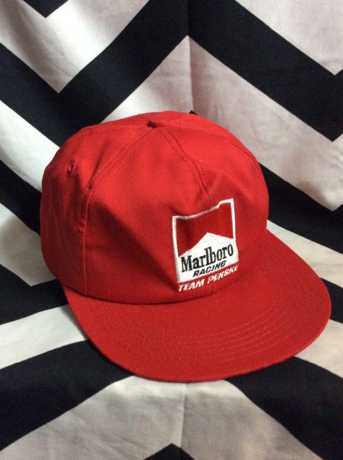 3efe5338ca9 MARLBORO RACING TEAM PENSKE SNAPBACK HAT » Boardwalk Vintage