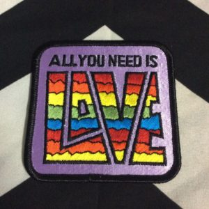 BW PATCH ALL YOU NEED IS LOVE RAINBOW PURPLE 1
