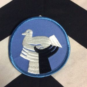 PATCH- RETRO PEACE DOVE W/ UNITY HANDS *old stock 1