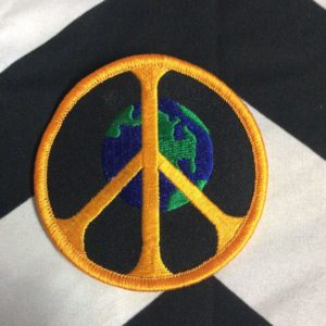 BW PATCH PEACE ON EARTH YELLOW BLACK GREEN 1