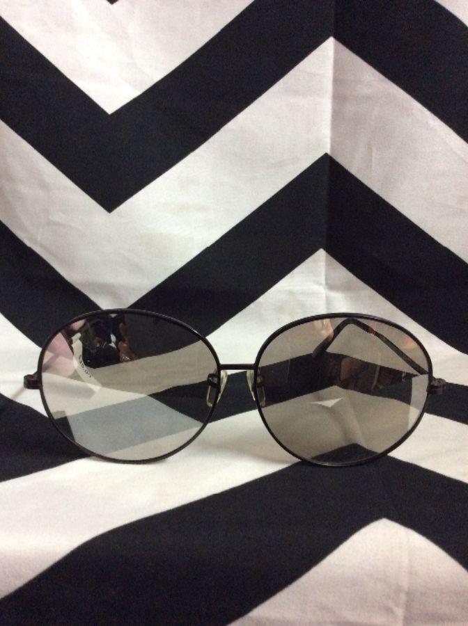 Sunglasses Large Round Sun Spec Mirrored Wire 1