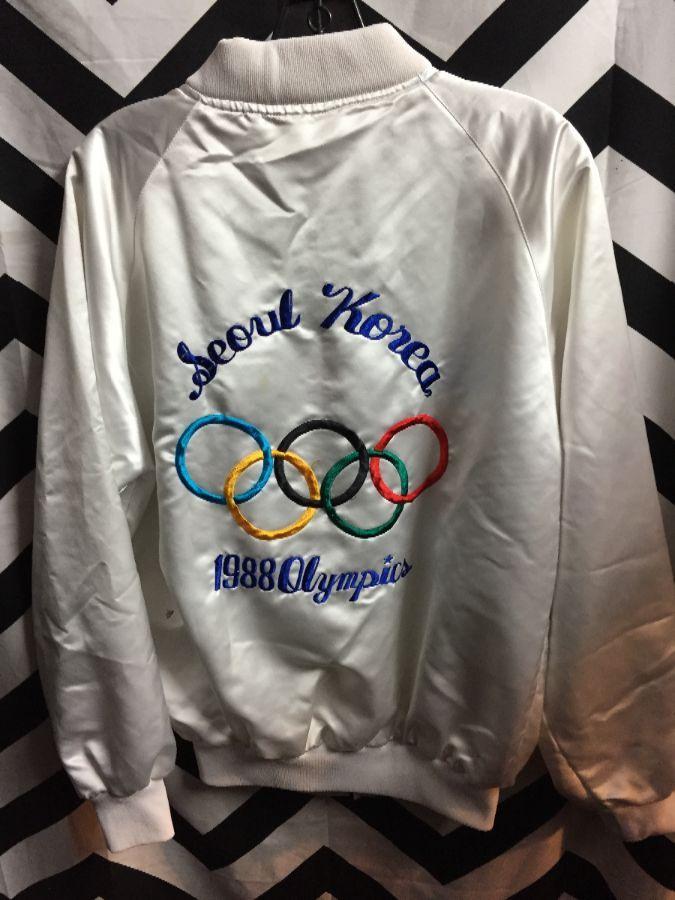 BOMBER JACKET ZIP UP SEOUL KOREA 1988 OLYMPICS