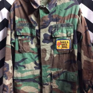 CAMO JACKET FORSYTHE US MARINES HAVE A NICE DAY PATCH 1