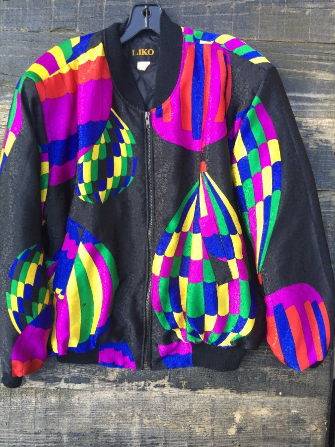 HOT AIR BALOON THICK WINDBREAKER MARTI GRAS COLORWAY 1