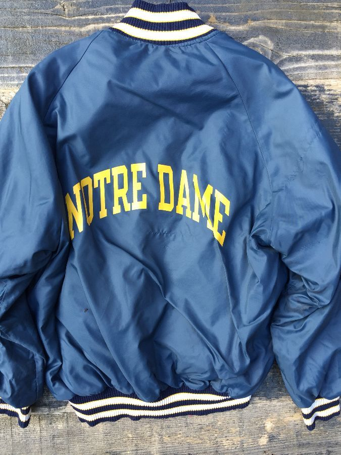 NCAA NOTRE DAME CHAMPION BUTTON UP JACKET 1