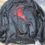 Red Parrot Satin button up jacket as-is 1