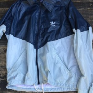 RETRO ADIDAS COLORBLOCK WINDBREAKER WITH HIDEAWAY HOOD 1