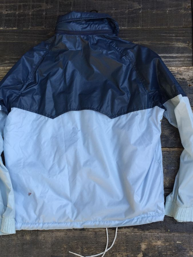 RETRO ADIDAS COLORBLOCK WINDBREAKER WITH HIDEAWAY HOOD 2