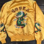 THIN SATIN SOUVENIR BOMBER JACKET KOREA W DRAGON EMBROIDERY 1