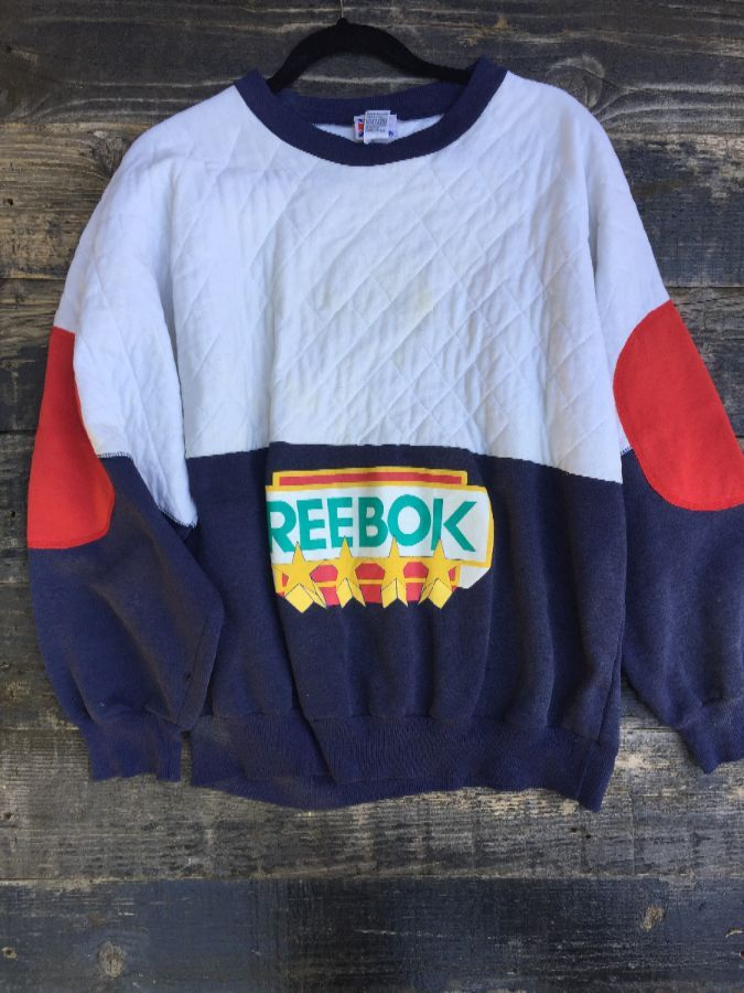 RETRO REEBOK PULLOVER QUILTED SWEATSHIRT as-is 1
