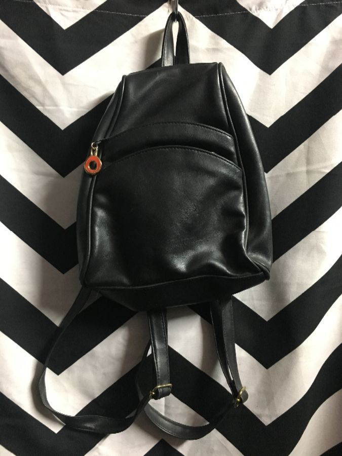 PERFET CLASSIC LEATHER SMALL BACKPACK 3 ZIPPERS 1