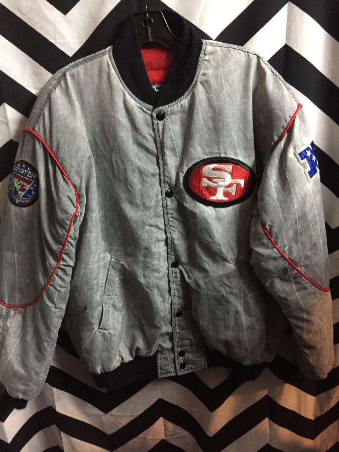 NFL San Francisco 49ers Acid Wash Starter Jacket 1