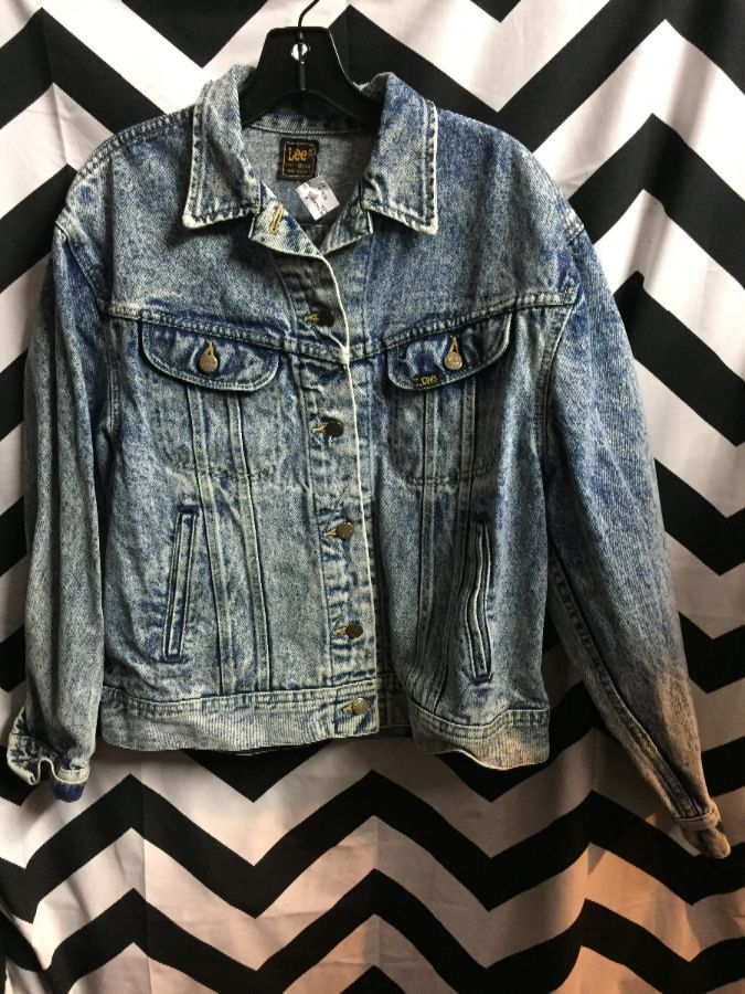 1990S ACID WASH DENIM JACKET PERFECT FIR 1