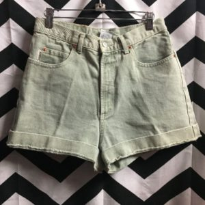 HIGH WAISTED CUFF JEAN SHORTS 1