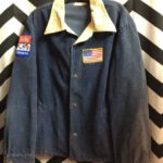 VINTAGE CORDUROY BUTTON UP ARM CHEST PATCHES 1