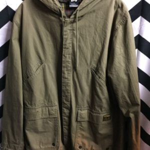 ZIPUP HOODED NIKE WINDBREAKER PLAID LINING 1