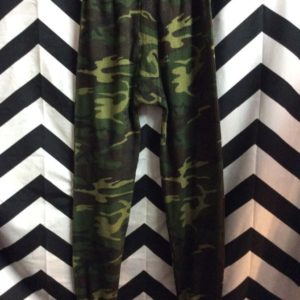TINY CAMO ARMY PRINT THERMAL PANTS 1