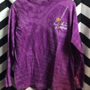 LS TSHIRT PURPLE TIE DYE TROPIX SAILBOAT GRAPHIC 1
