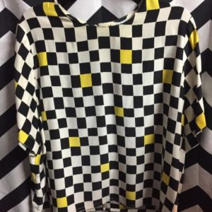 SS CHECKERED BOXY TOP SILK 1
