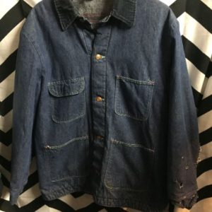 DENIM WORKWEAR JACKET BLANKET LINED 1