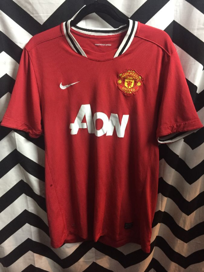 save off 80c65 8eb35 NIKE MANCHESTER UNITED SOCCER JERSEY EPL