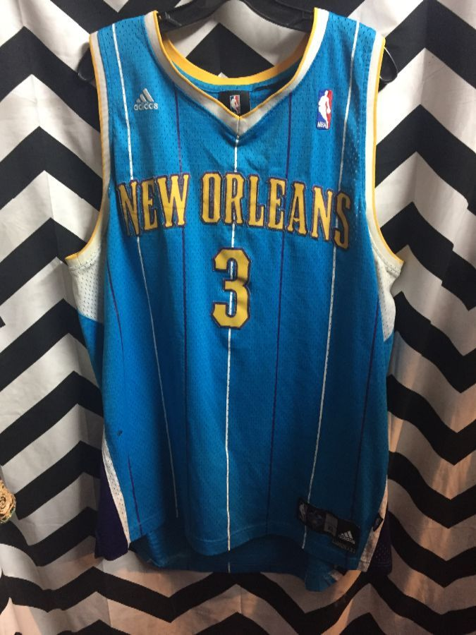 ec3e597c5 ADIDAS NEW ORLEANS HORNETS JERSEY  3 CHRIS PAUL NBA » Boardwalk Vintage