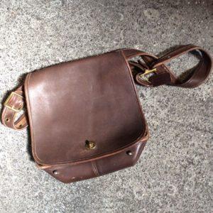 SUPER SOFT BROWN RETRO COACH MESSENGER BAG FOLD OVER FLAP 1