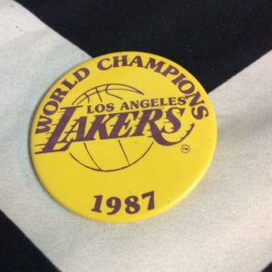 BUTTON LOS ANGELES LAKERS 1987 CHAMPION 1