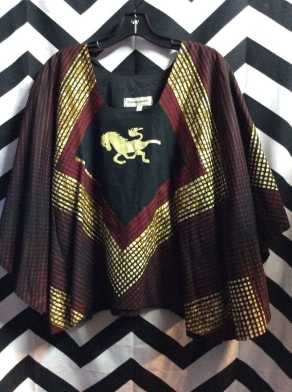 2 PIECE PANT AND PONCHO TOP AFRICAN DASHIKI STYLE 2