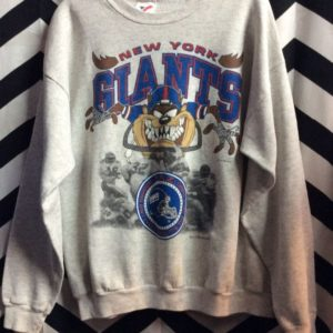 1992 NEW YORK GIANTS TAZ DEVIL GRAPHIC SWEATSHIRT 1