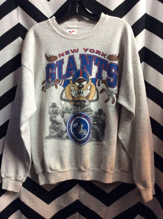 1992 NEW YORK GIANTS W  TAZ DEVIL GRAPHIC SWEATSHIRT » Boardwalk Vintage 955f48b7a