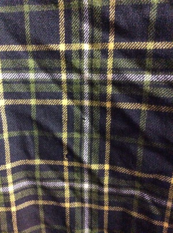 LS BD green wool flannel shirt as/is 3