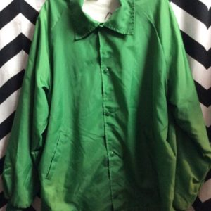 CLASSIC COLLAR GREEN WINDBREAKER 1