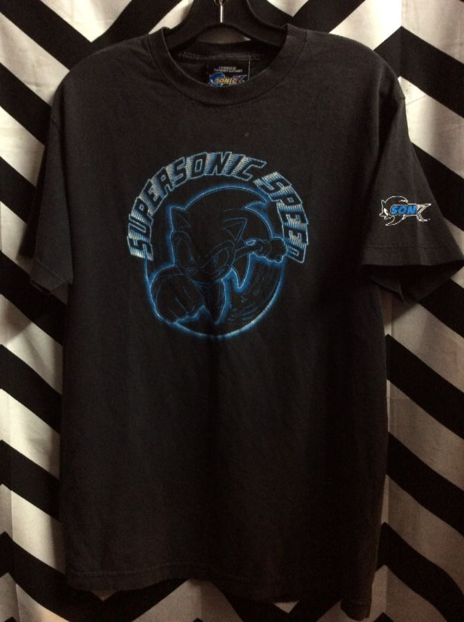 T Shirt Sonic The Hedgehog Super Sonic Speed Boardwalk Vintage