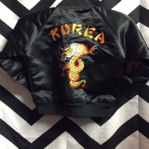 BABY KOREAN EMBROIDERED BOMBER JACKET 1