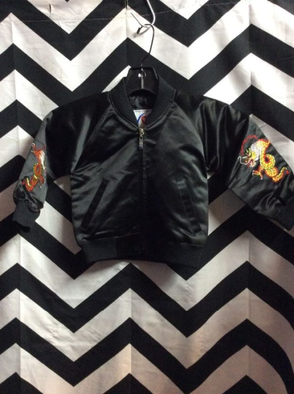 BABY KOREAN EMBROIDERED BOMBER JACKET 2