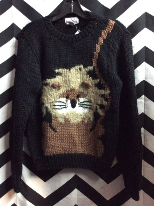 Sweater Knitted Lion 1